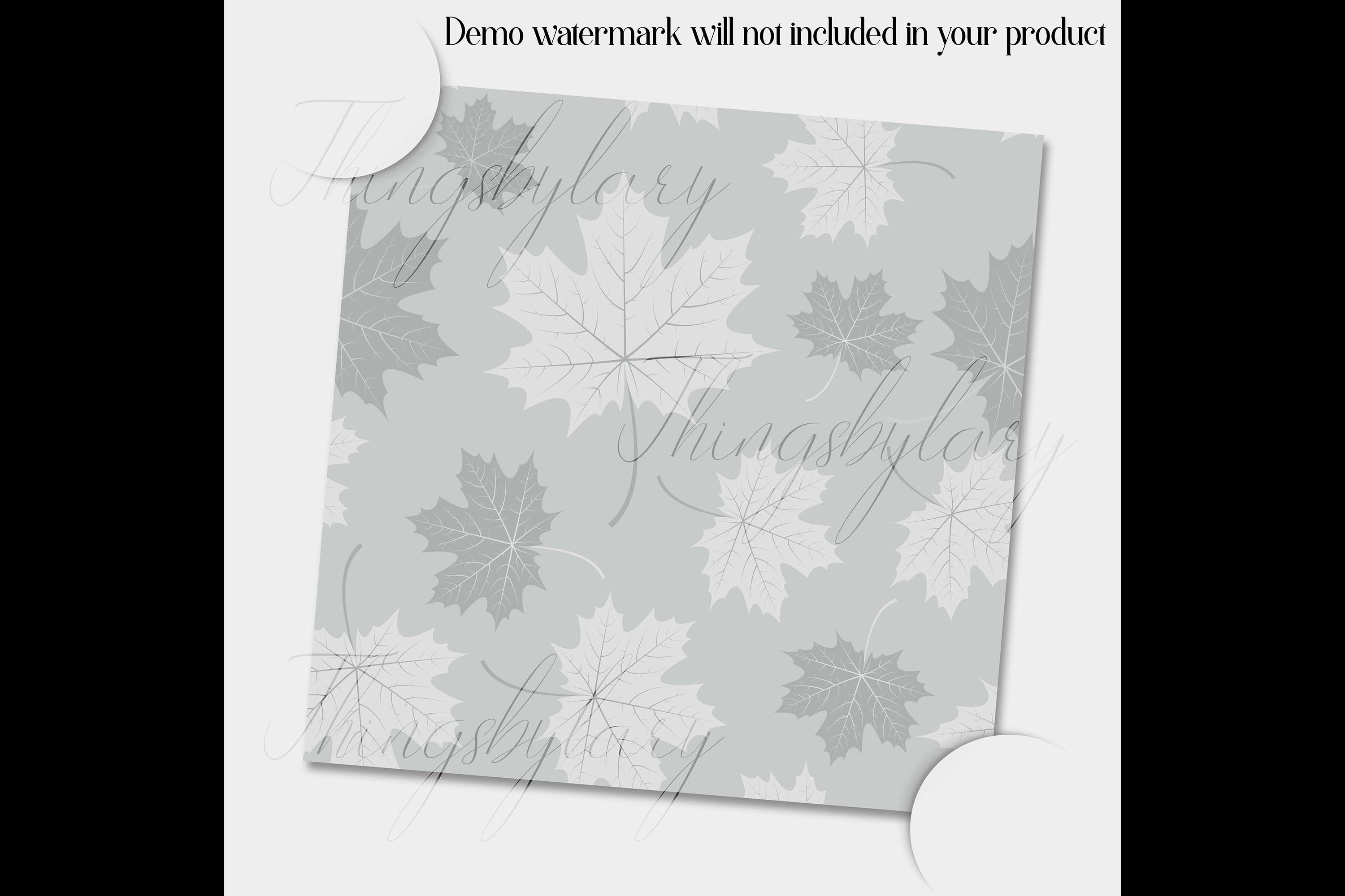 100 Seamless Tinted Autumn Leaves Pattern Digital Papers example image 5