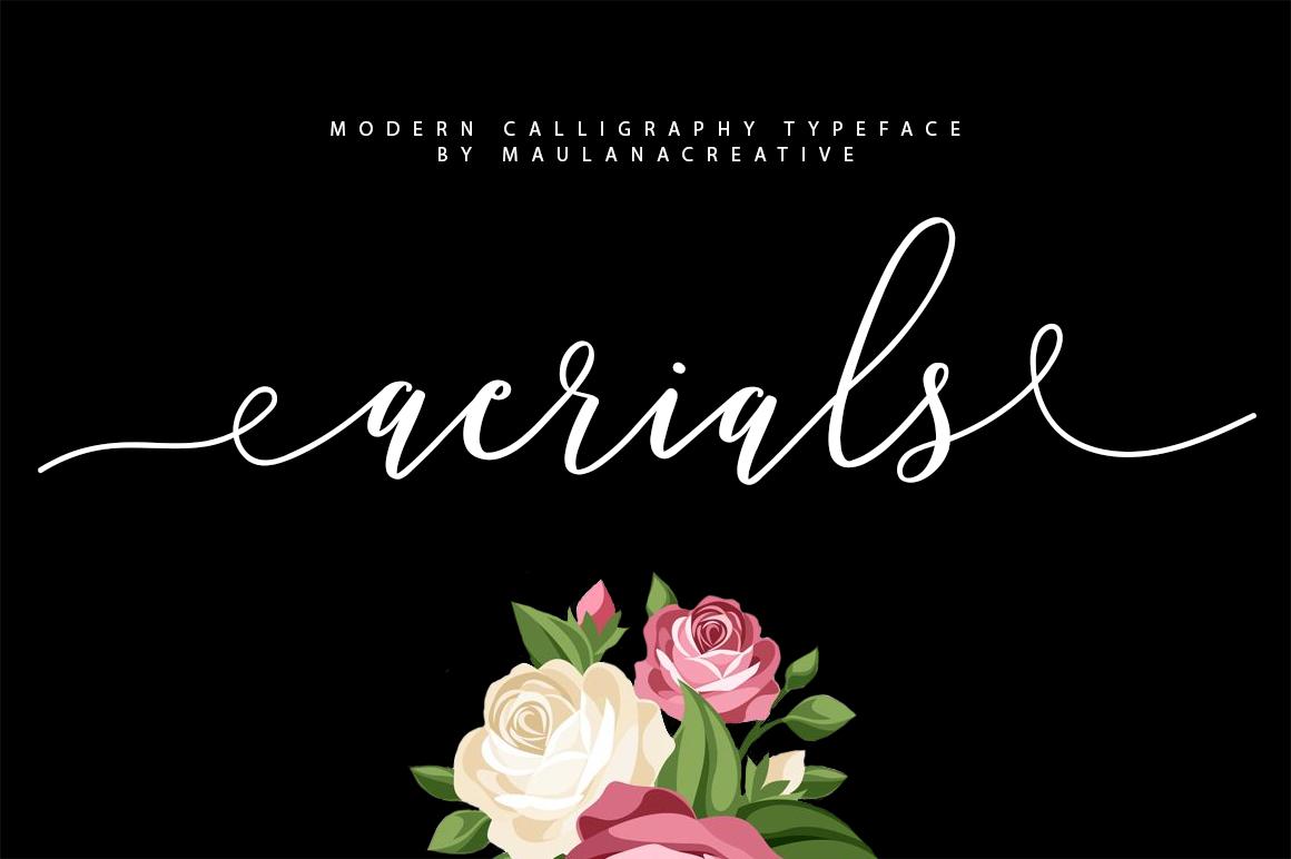 Aerials Typeface example image 1