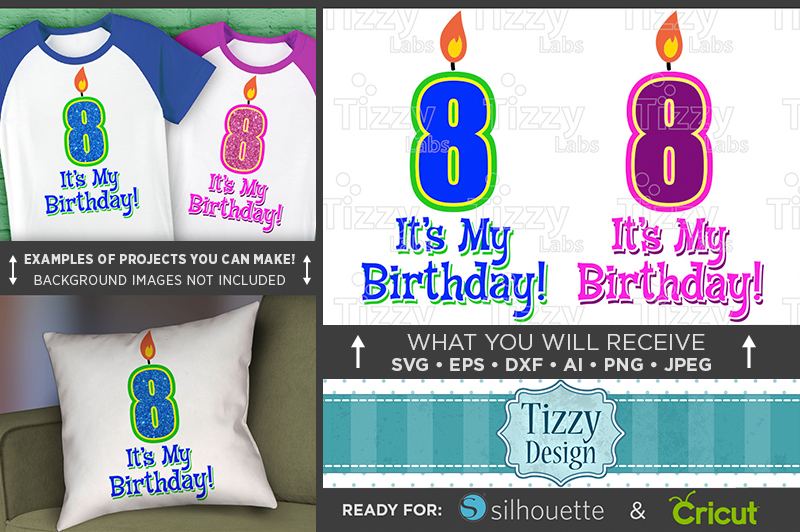8th Birthday Svg - Its My Birthday SVG Birthday Shirt - 1035 example image 1