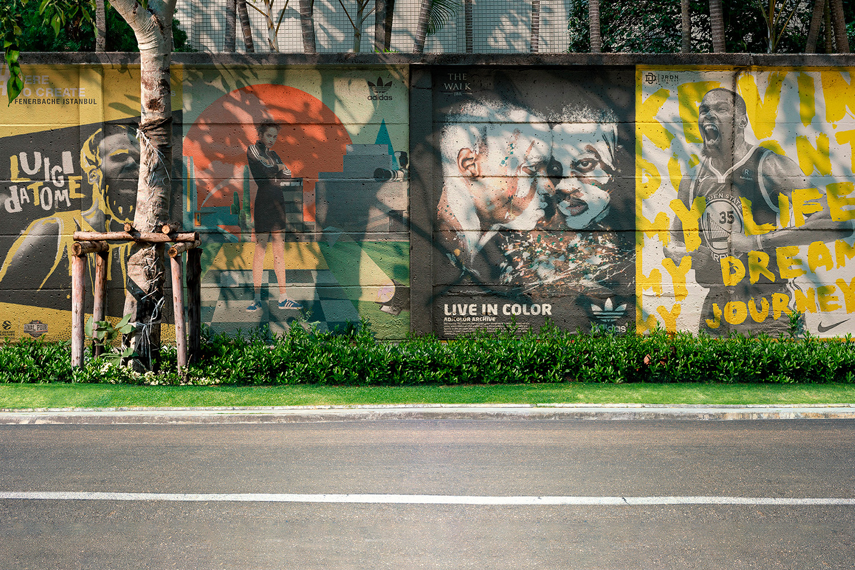 12 Realistic Mural Street Mockup - PSD example image 12