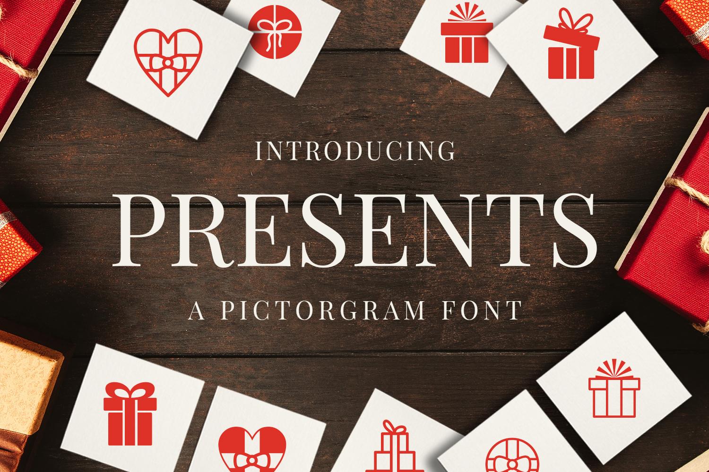 Presents - Pictorgram Font example 1