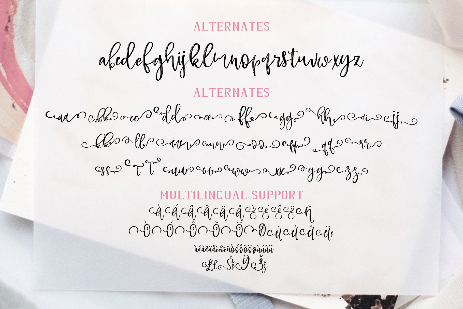 Rose Martino Font Duo example image 19