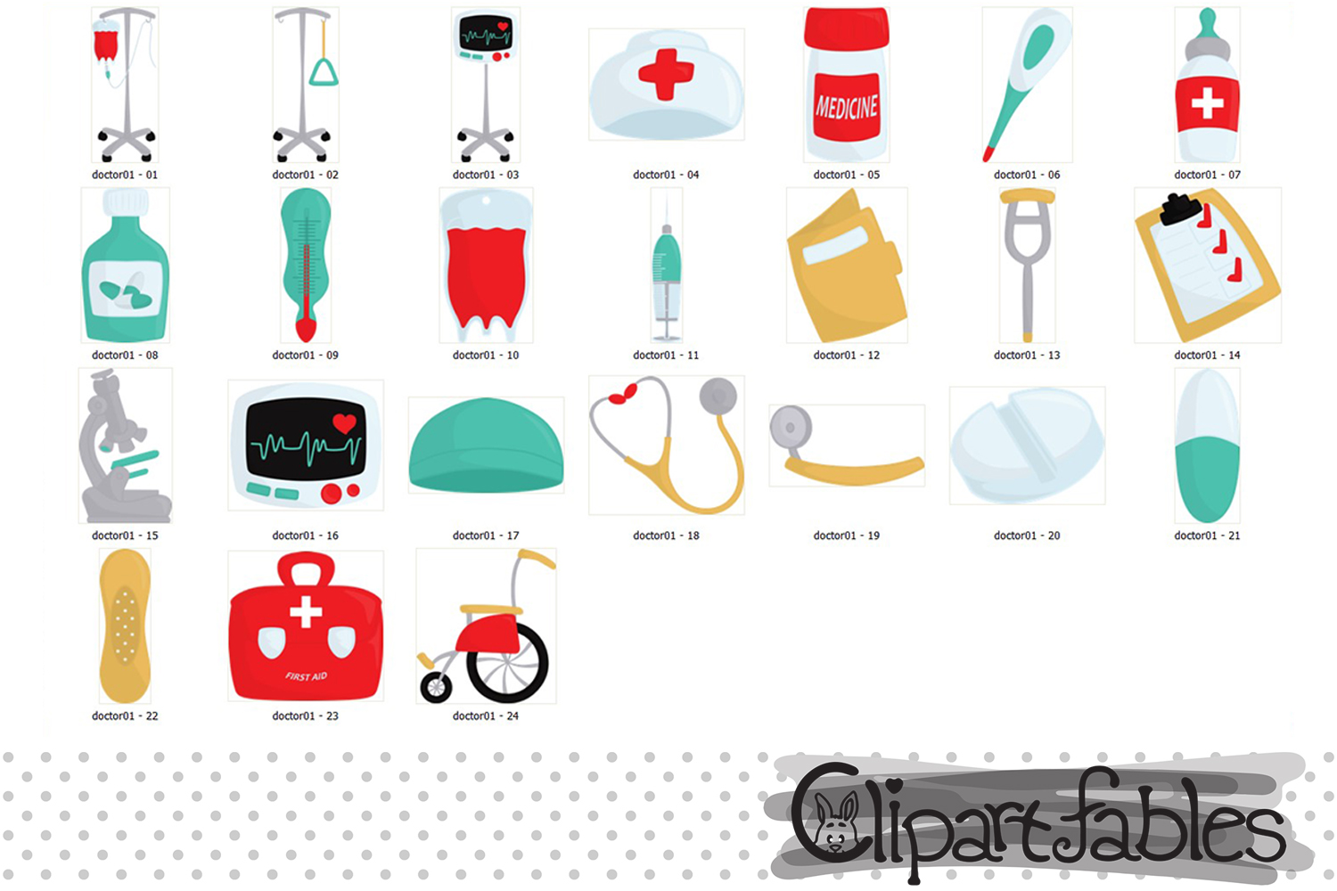 Hospital clipart, First aid clip art - INSTANT download example image 2