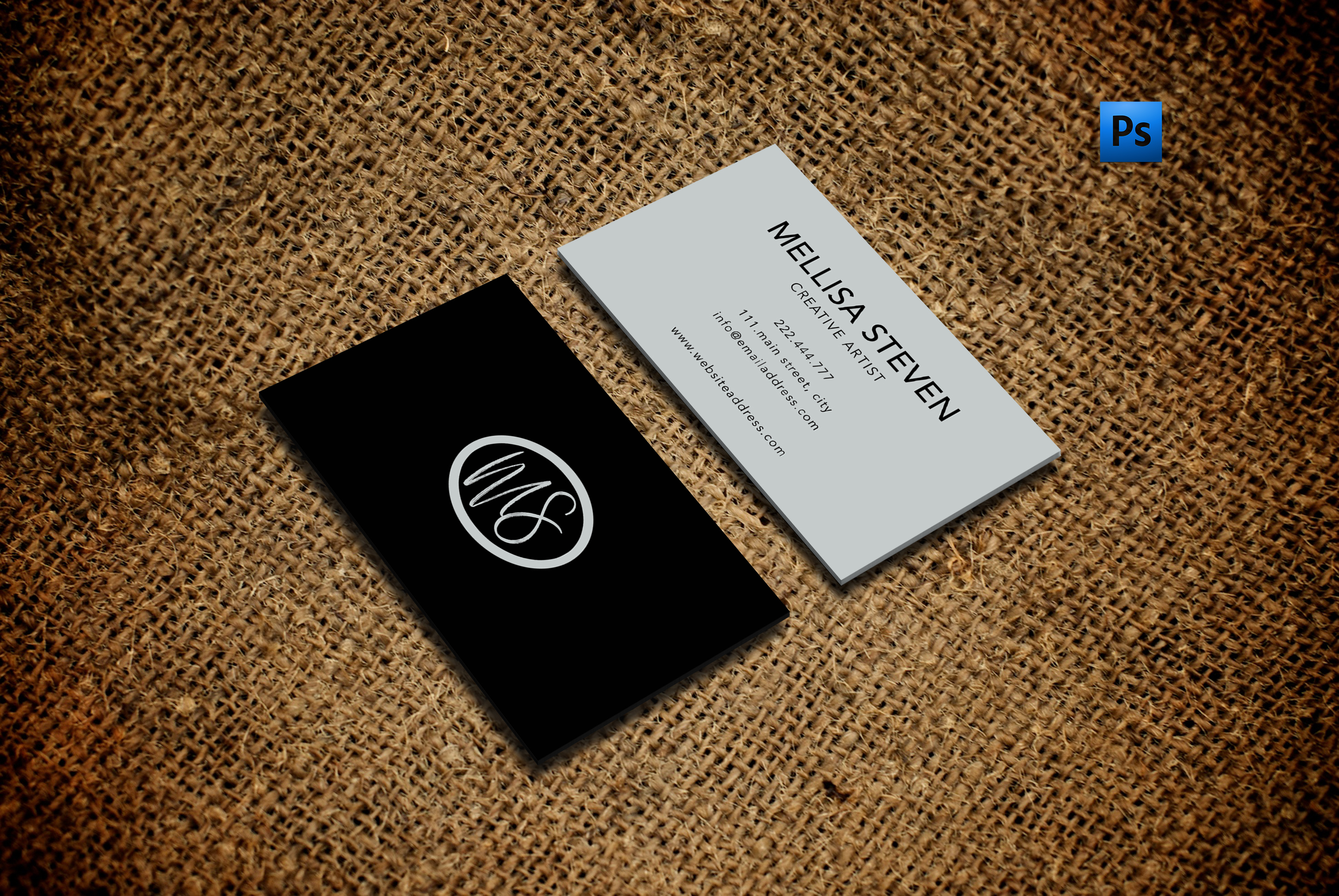 Elegant business card for everyone example image 1