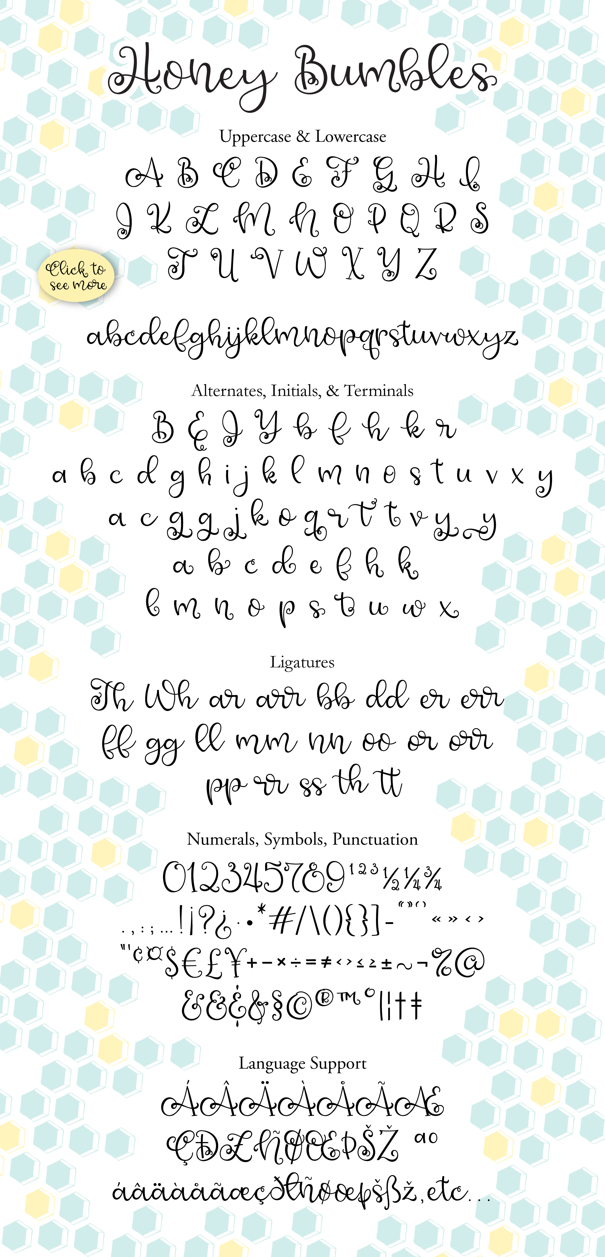 Honey Bumbles, a curly, round script font example image 5