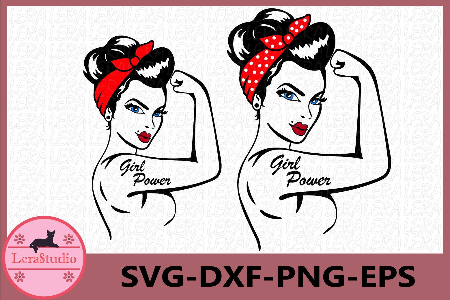 Girl Power SVG, Girl Power Silhouette, Clipart example image 1