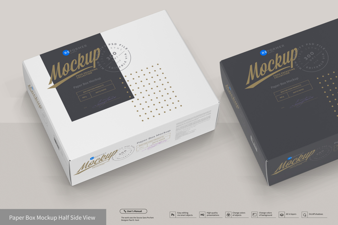 Presentation of Cartoon Box Design Mockup example image 5