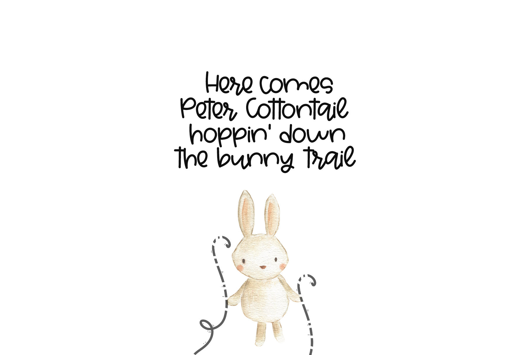 Bunny Ears - A Fun Handwritten Script Font example image 5