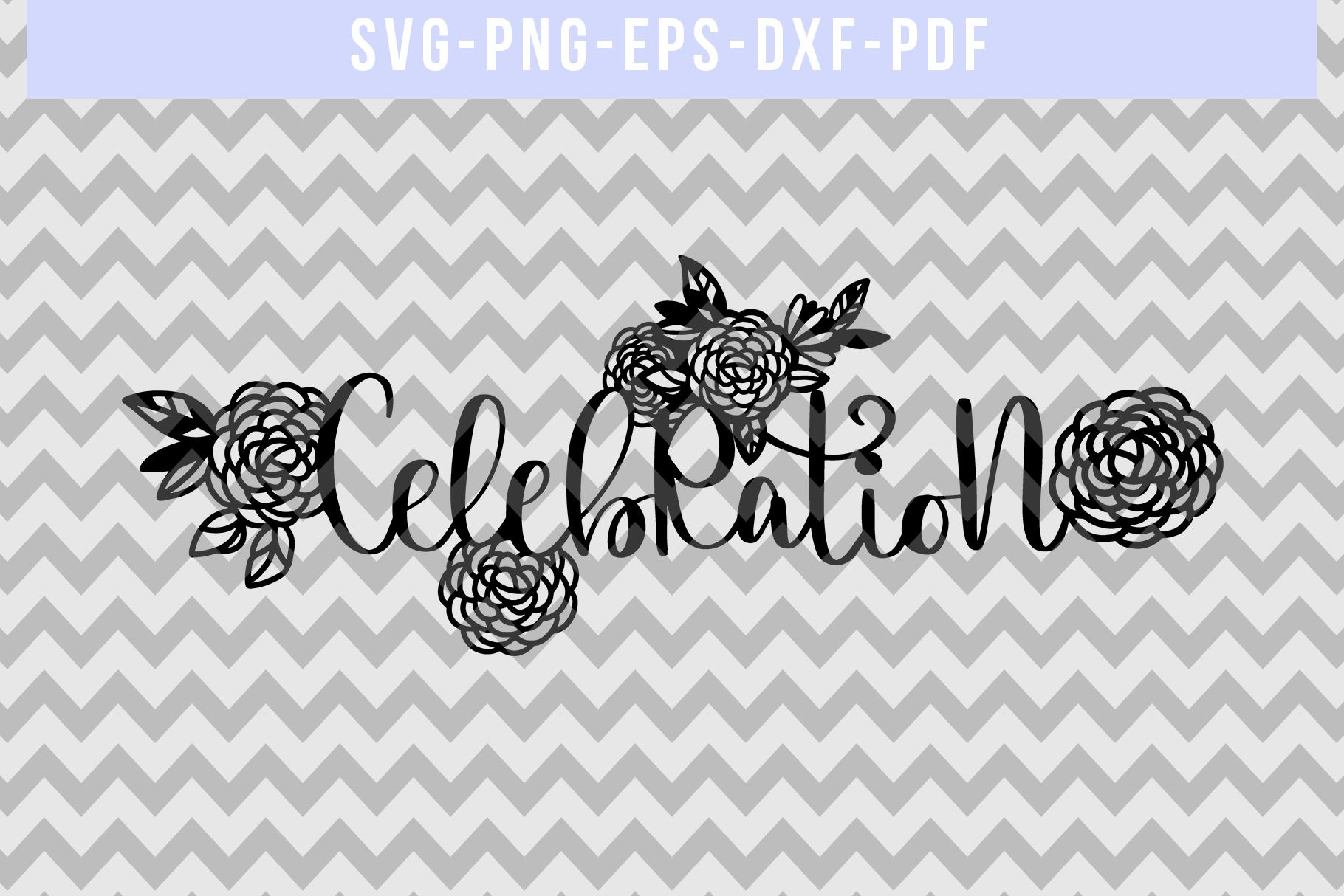 Celebration Papercut Template, Wedding Invitation SVG, PDF example image 4