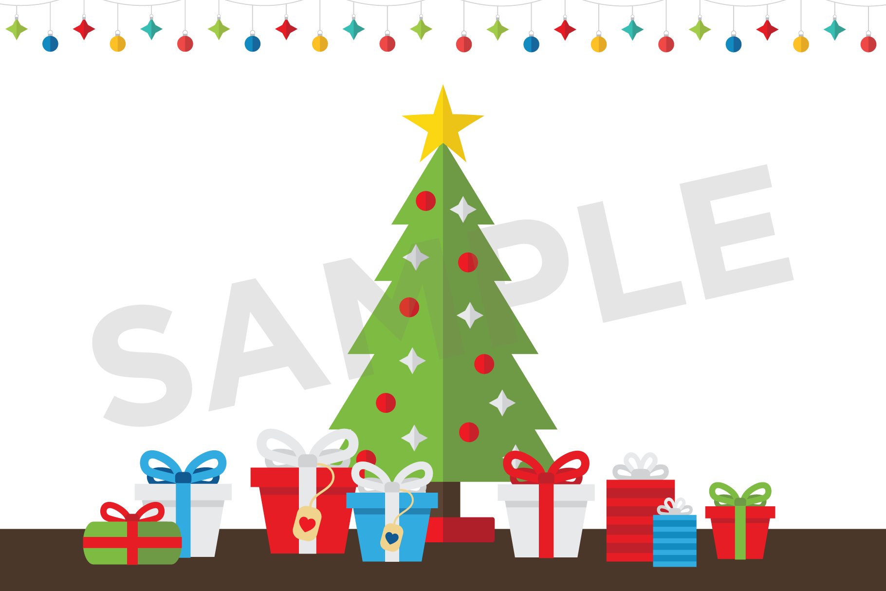 Colorful Christmas Tree Party Clip Art Set example image 7