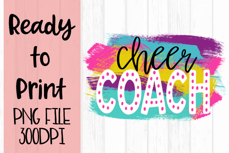 Cheer Coach Bright Preppy Design Ready to Print example image 1