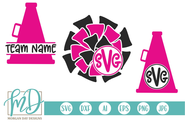 Cheer Monogram SVG, DXF, AI, EPS, PNG, JPEG example image 1