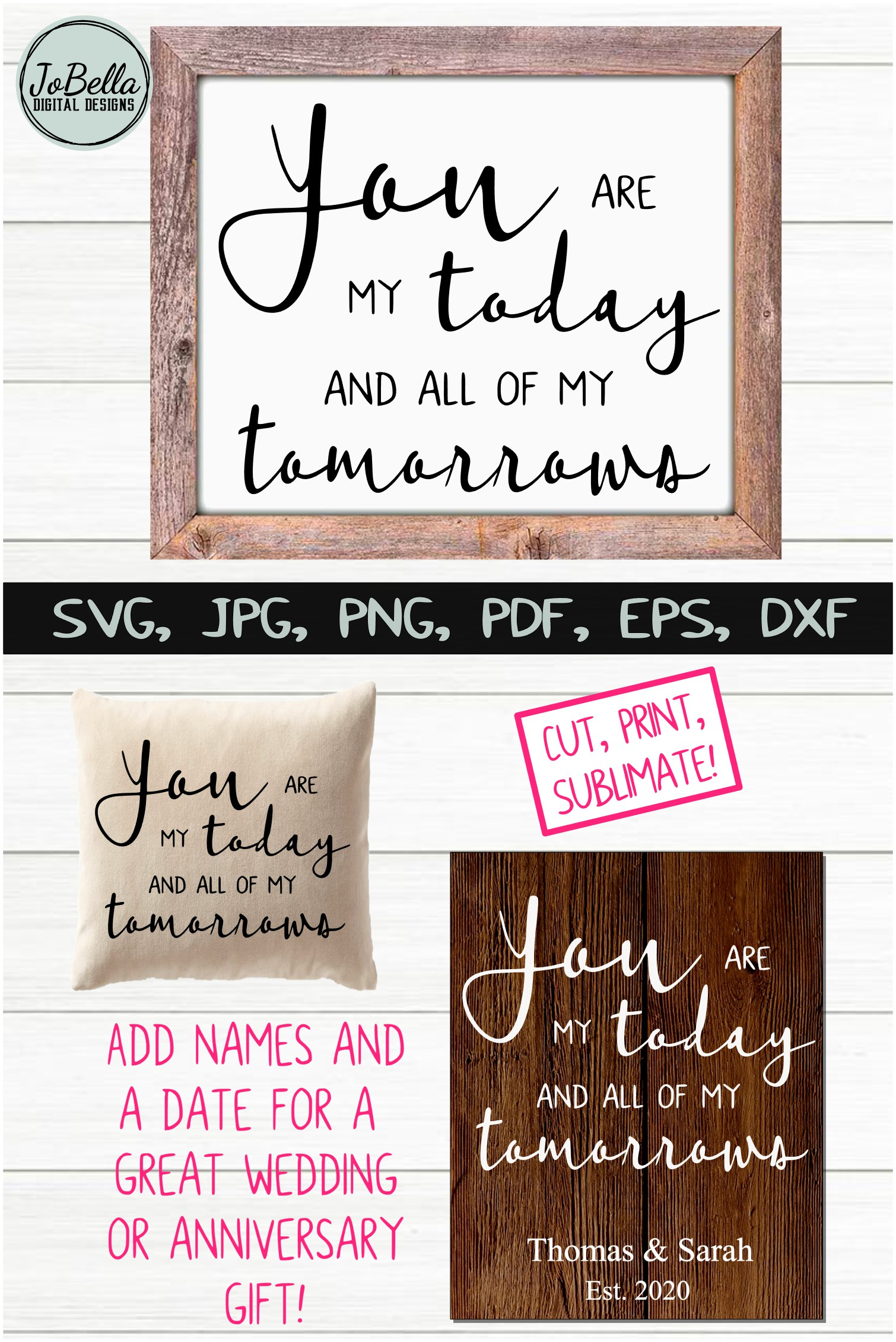Love / Romantic / Wedding SVG, Sublimation PNG and Printable example image 5