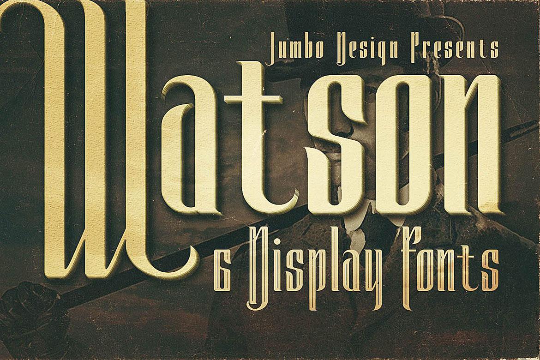 Watson - Vintage Display Font example image 1