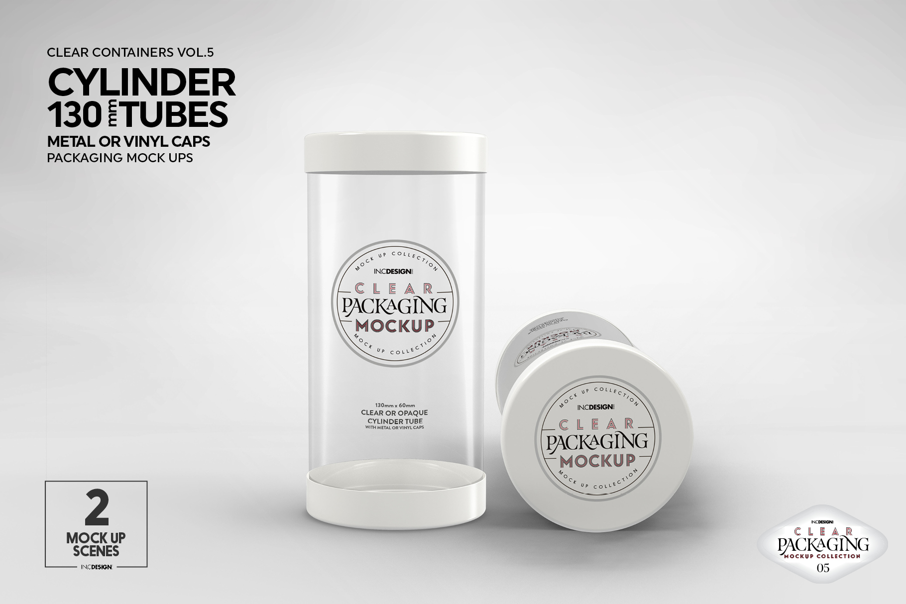 130mm Cylinder Tube Packaging Mockup example image 14