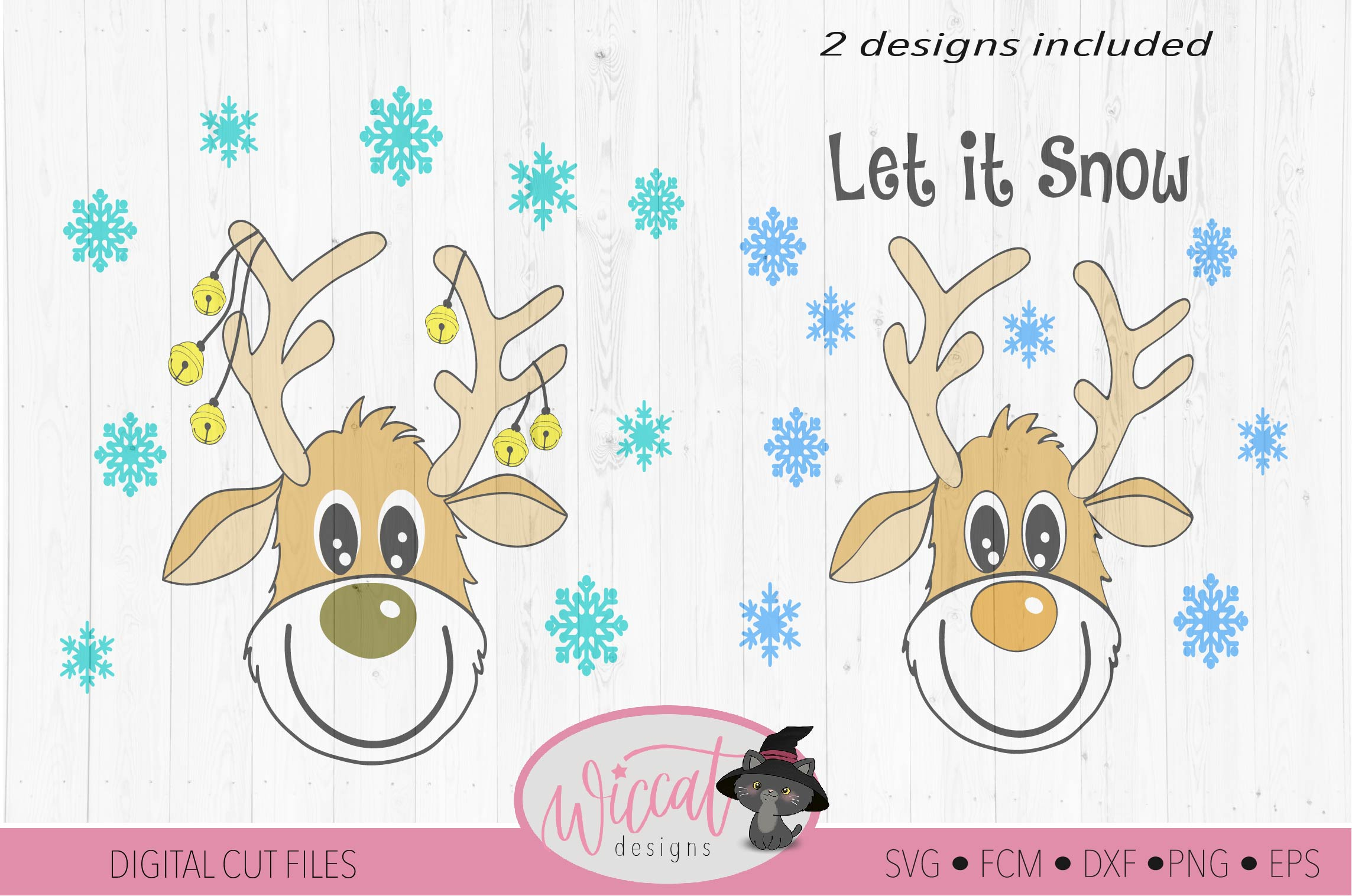 Funny Reindeer svg, deer svg, Christmas sweater svg example image 3
