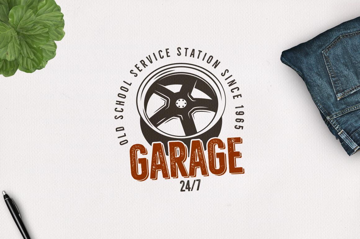 Garage - Car Service Emblem / Retro Logo example image 2