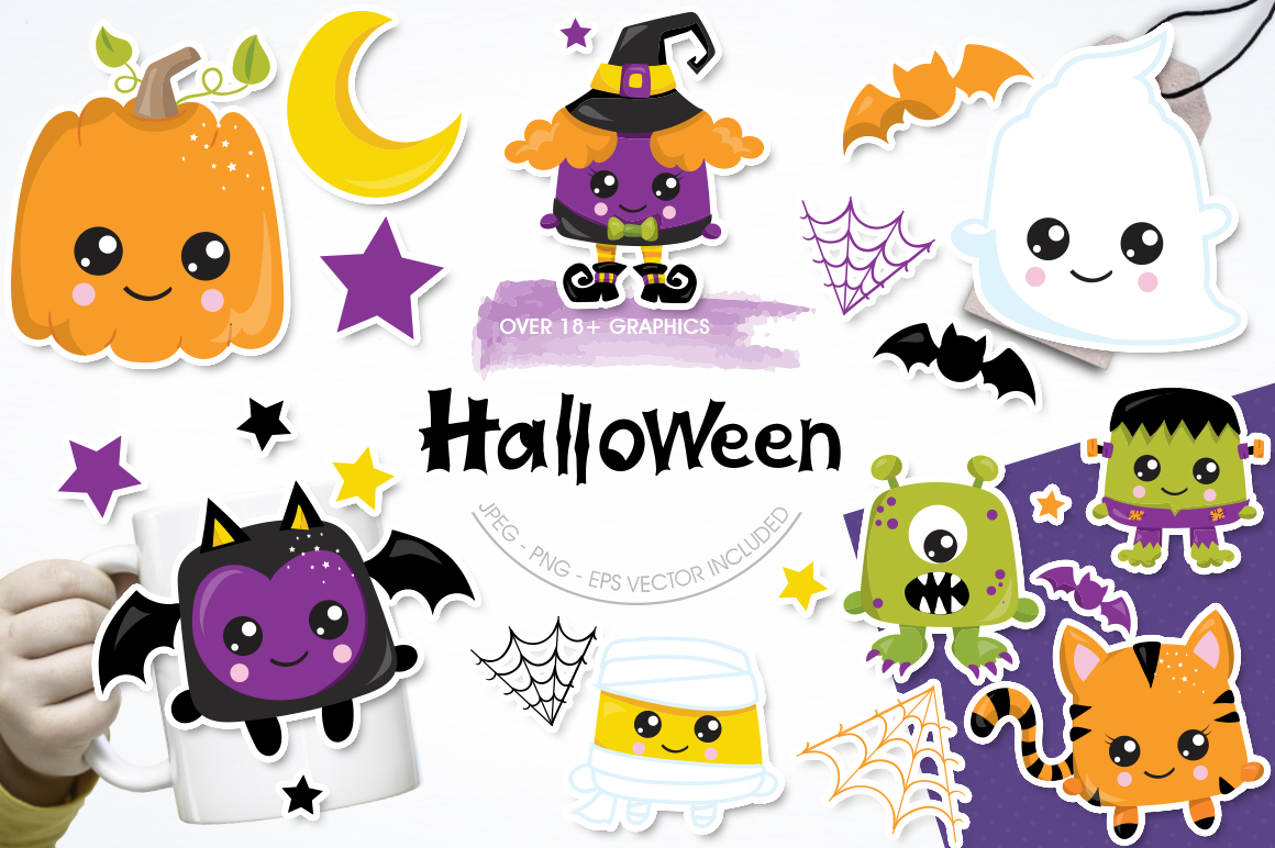 Halloween graphic and illustrations example image 1