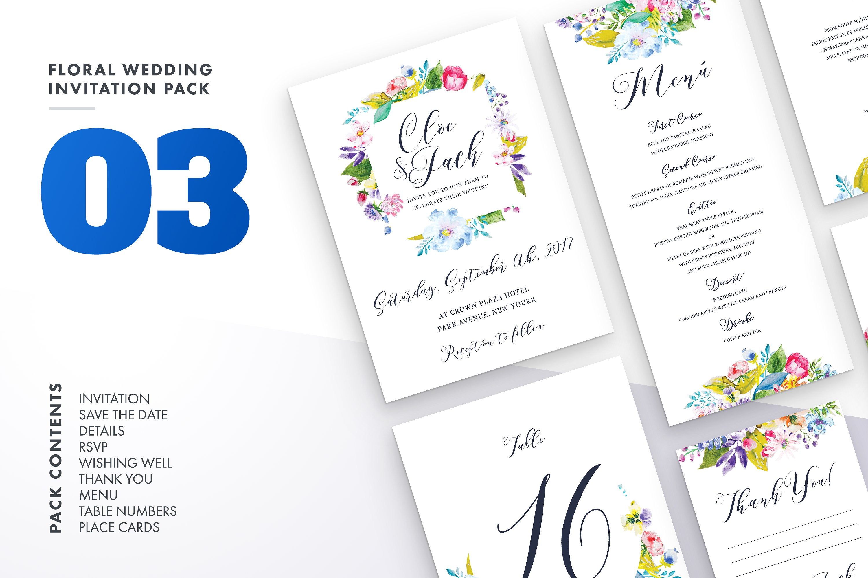 Floral Wedding Invitation Bundle example image 3