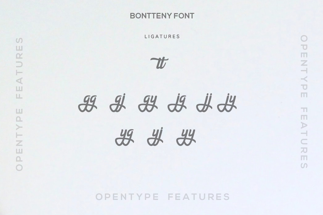 Bontteny Font example image 7