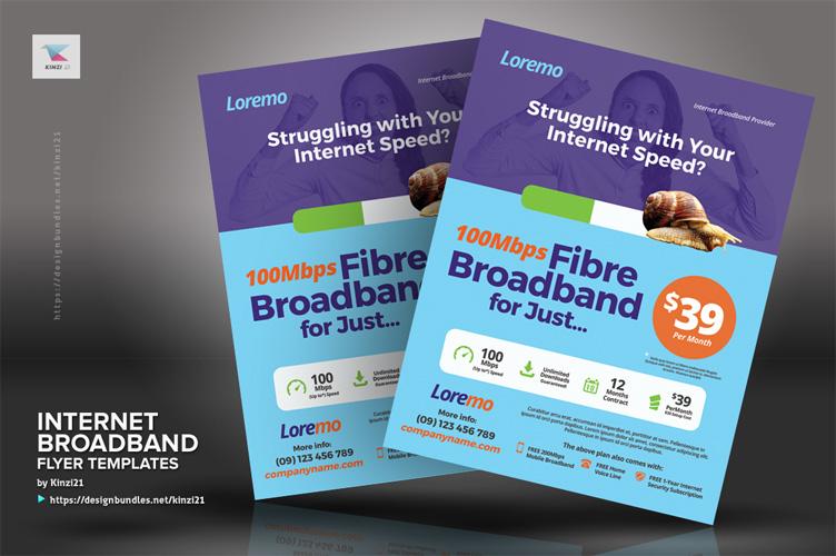 Internet Broadband Flyer Templates example image 2