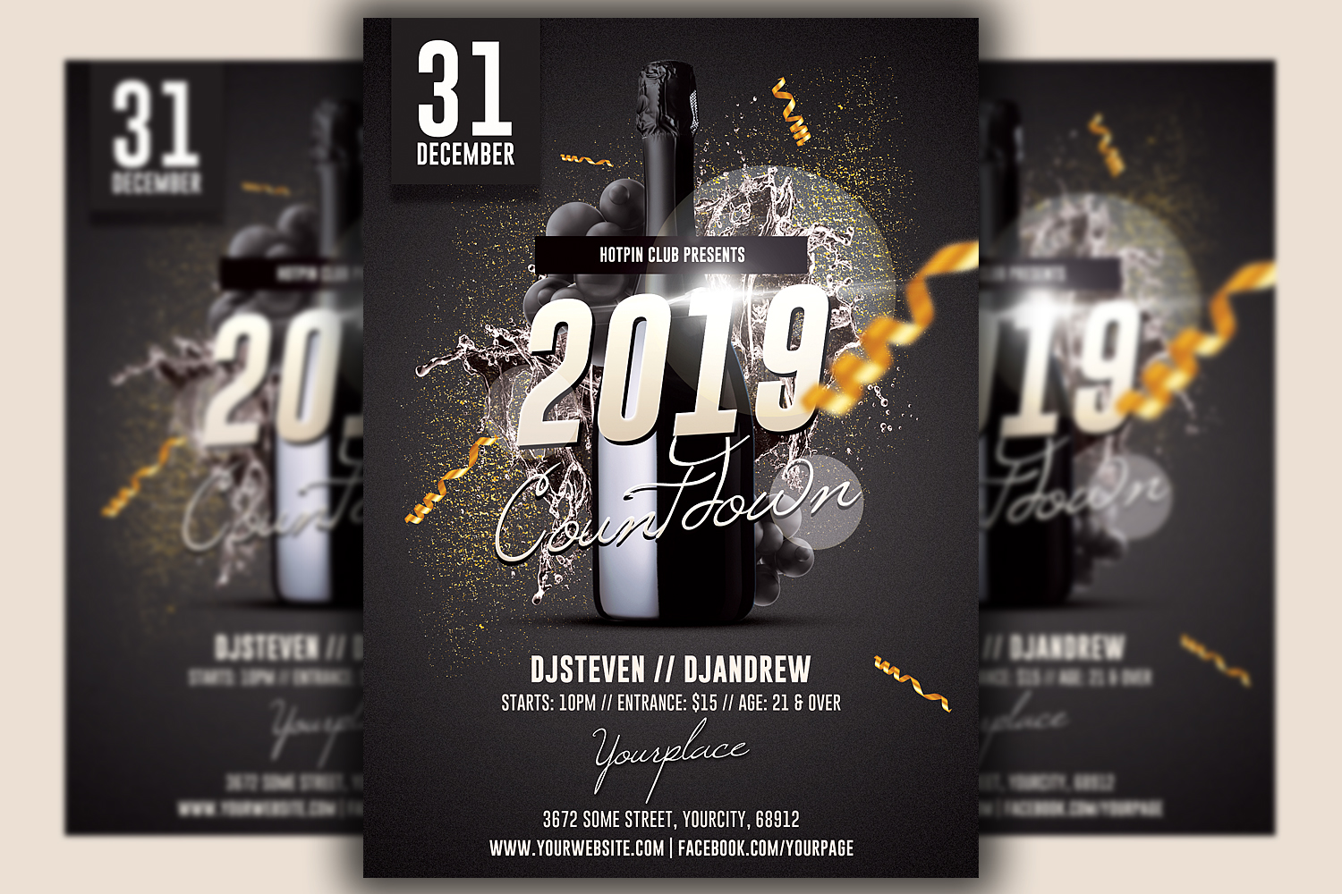 New Year Eve Flyer Template example image 1