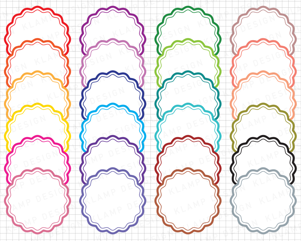 Labels Bundle Graphics and Illustrations / Frames Bundle example image 4