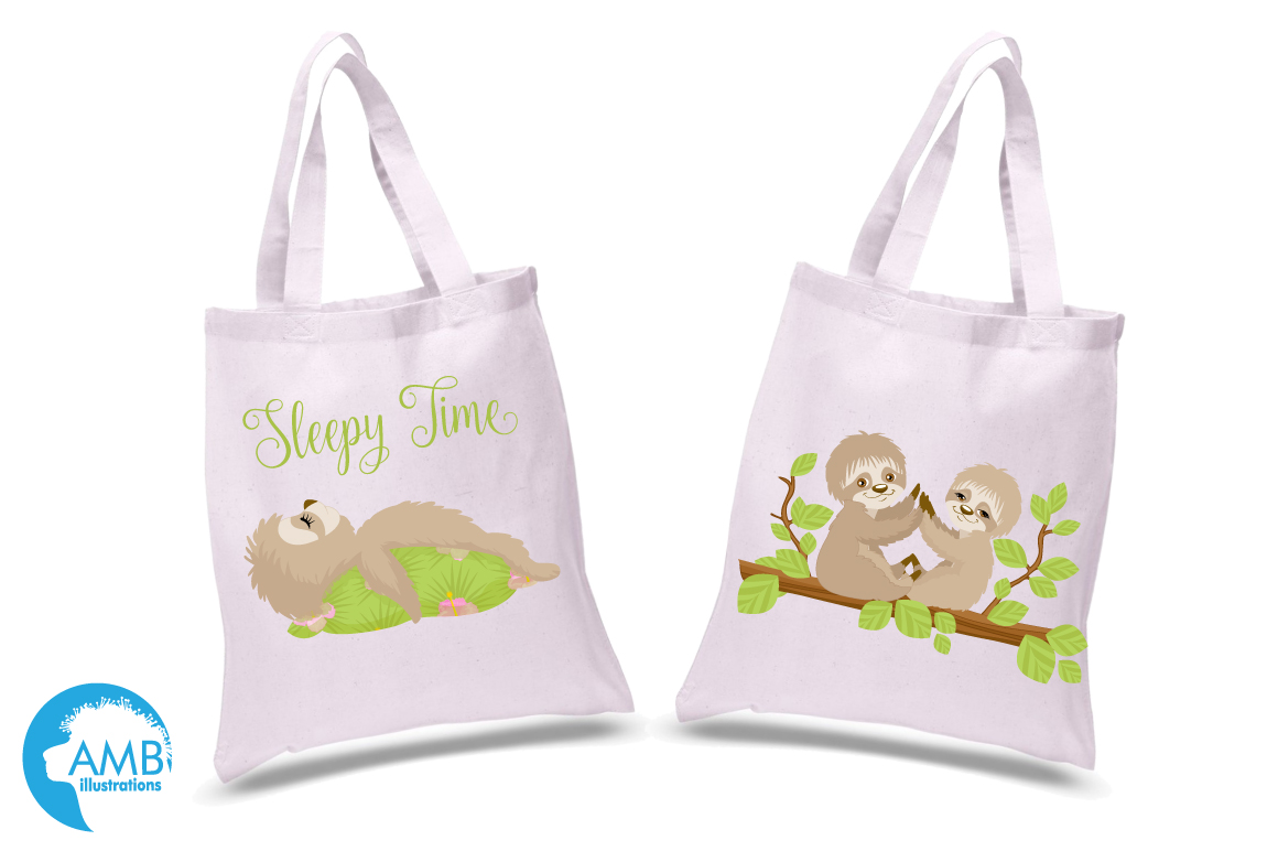 Sleepy Sloths clipart, graphics, illustrations AMB-2200 example image 2