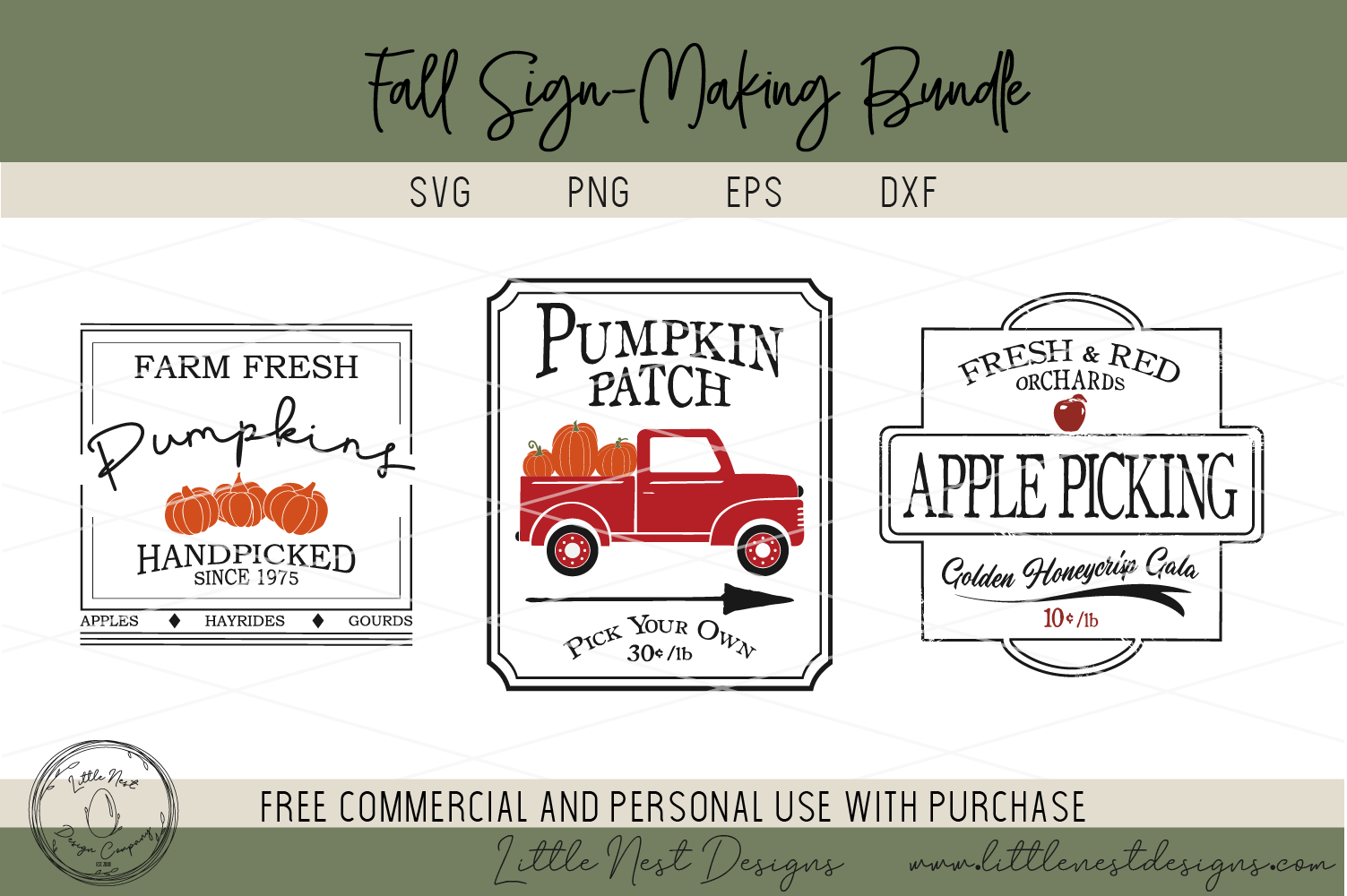 Fall Sign SVG Bundle - Farmhouse Sign Bundle example image 4