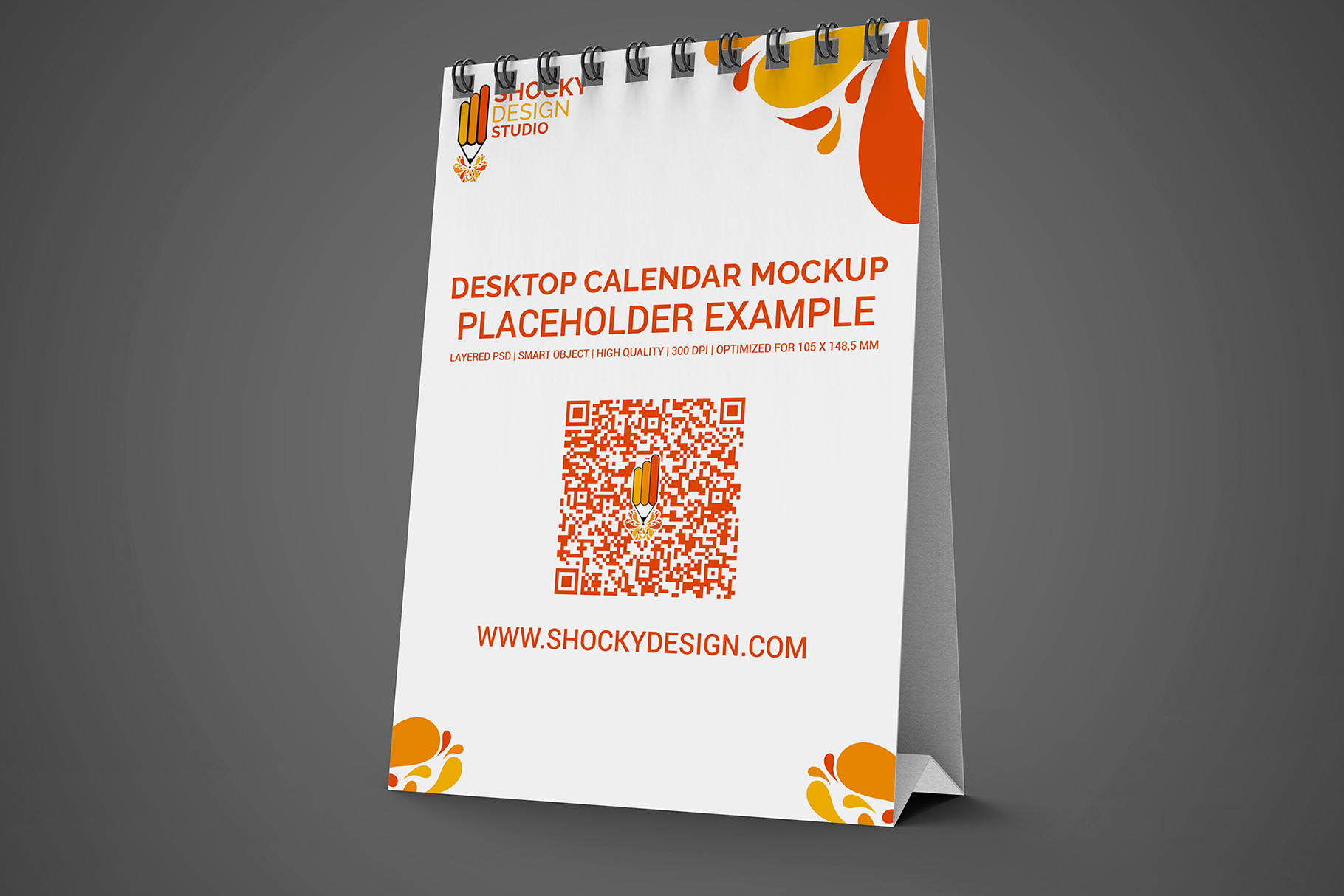 Desktop Calendar A6 Mockup example image 5