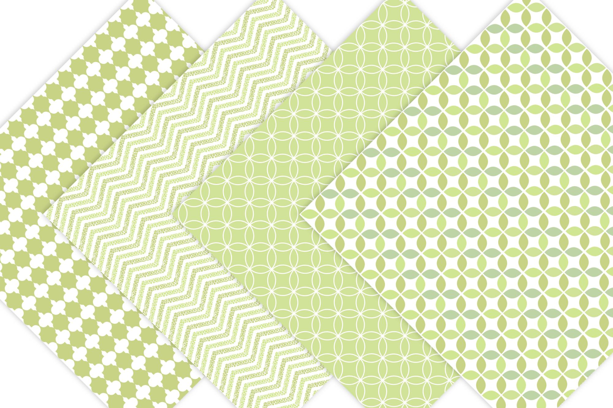 Lime Green Patterned Digital Paper example image 3