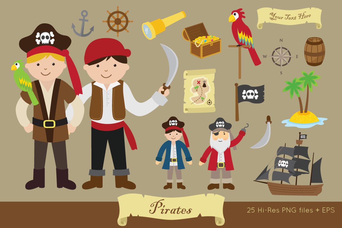 Pirates Clipart example image 1