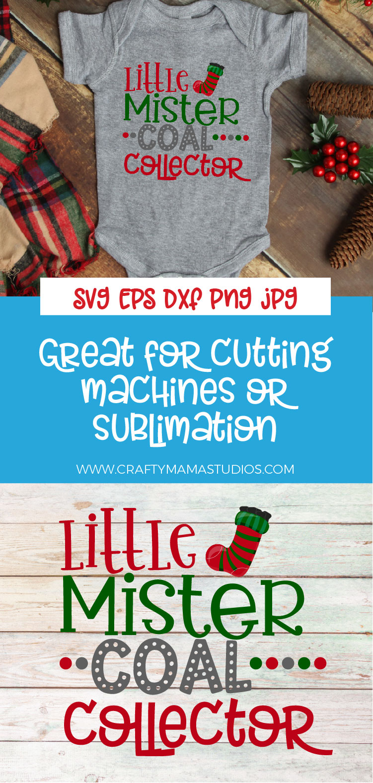Little Mister Coal Collector, Naughty List SVG, Christmas example image 3