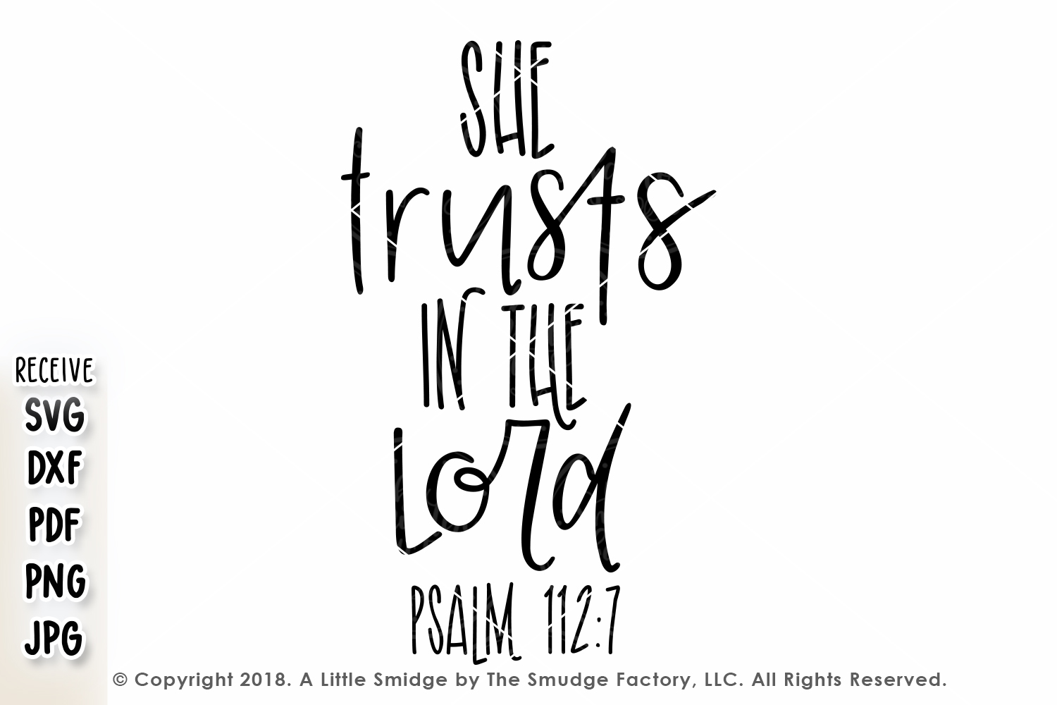 She Trusts In The Lord SVG example image 3