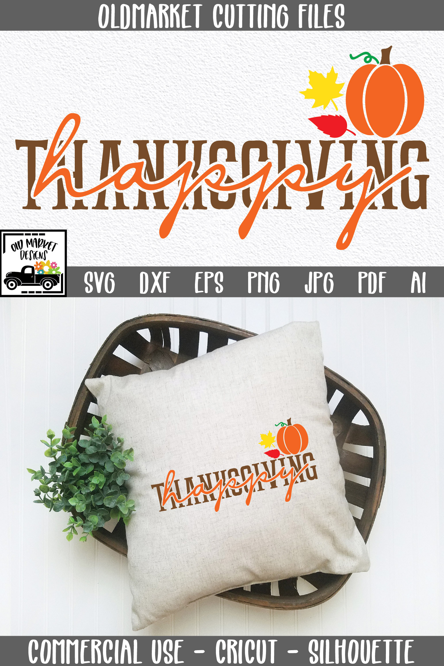 Happy Thanksgiving SVG Cut File example image 5