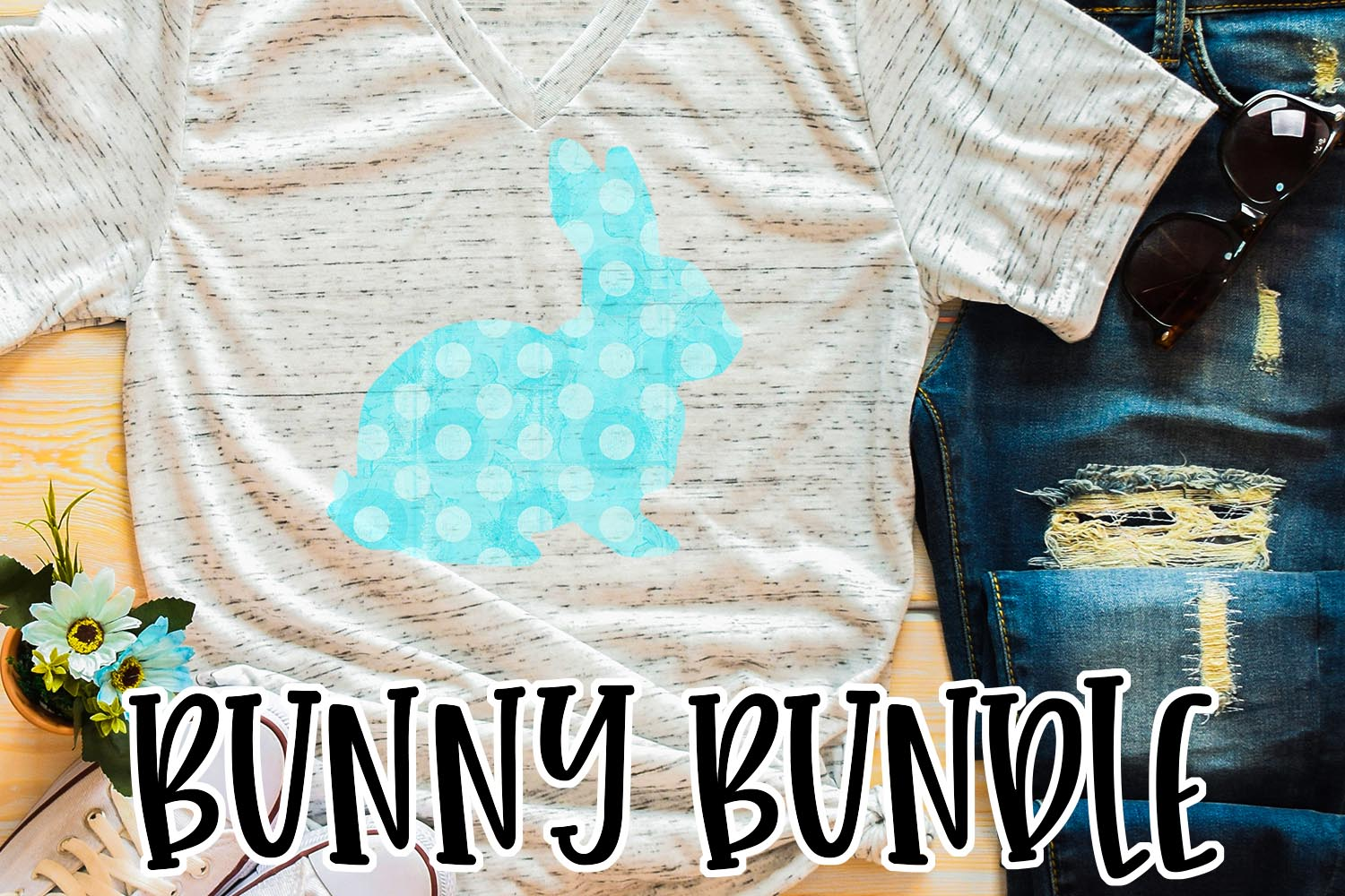 Easter Bunny Sublimation Bundle example image 3