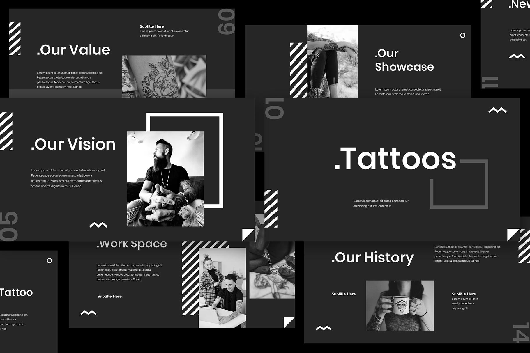 Tattoo Google Slides Presentation example image 3