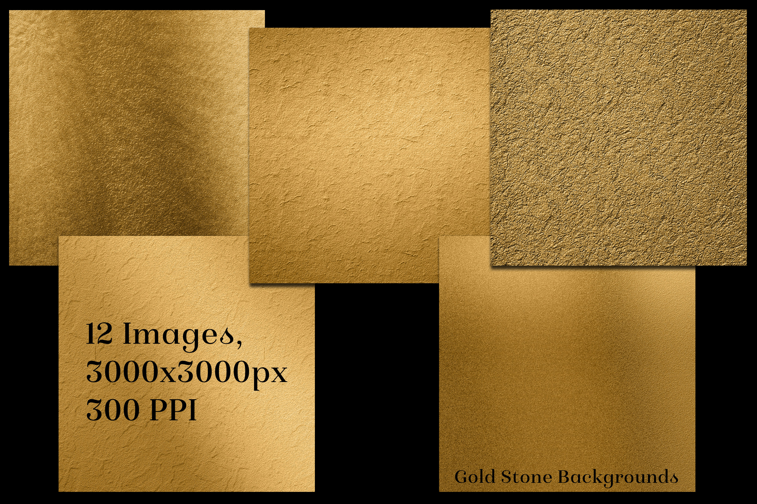 Gold Stone Backgrounds - 12 Image Textures Set example image 2