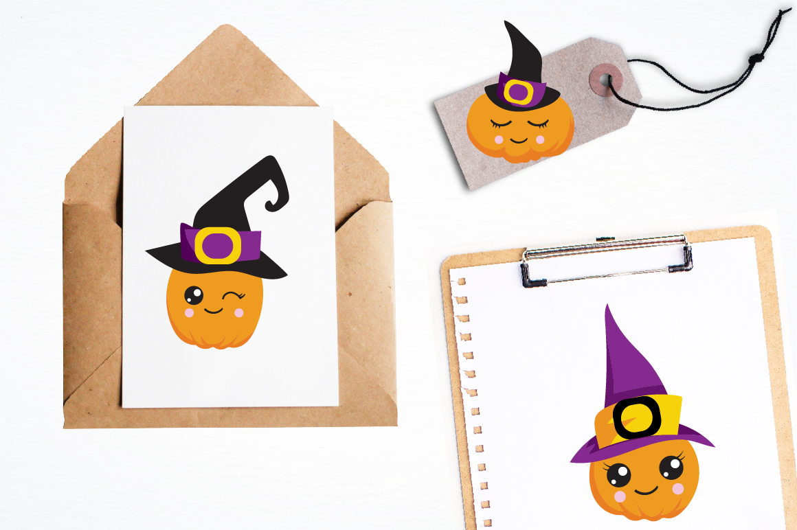Witchy Halloween pumpkins graphics and illustrations example image 4