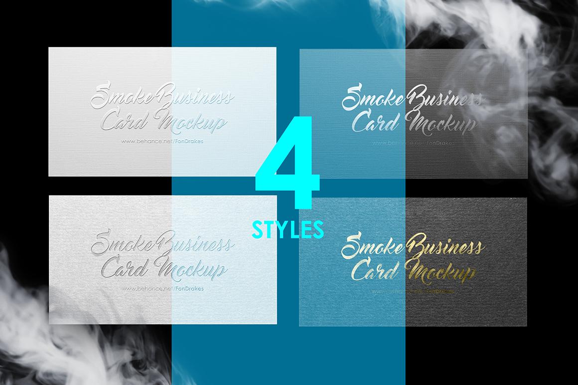 Smoke Business Card MockUp example image 6