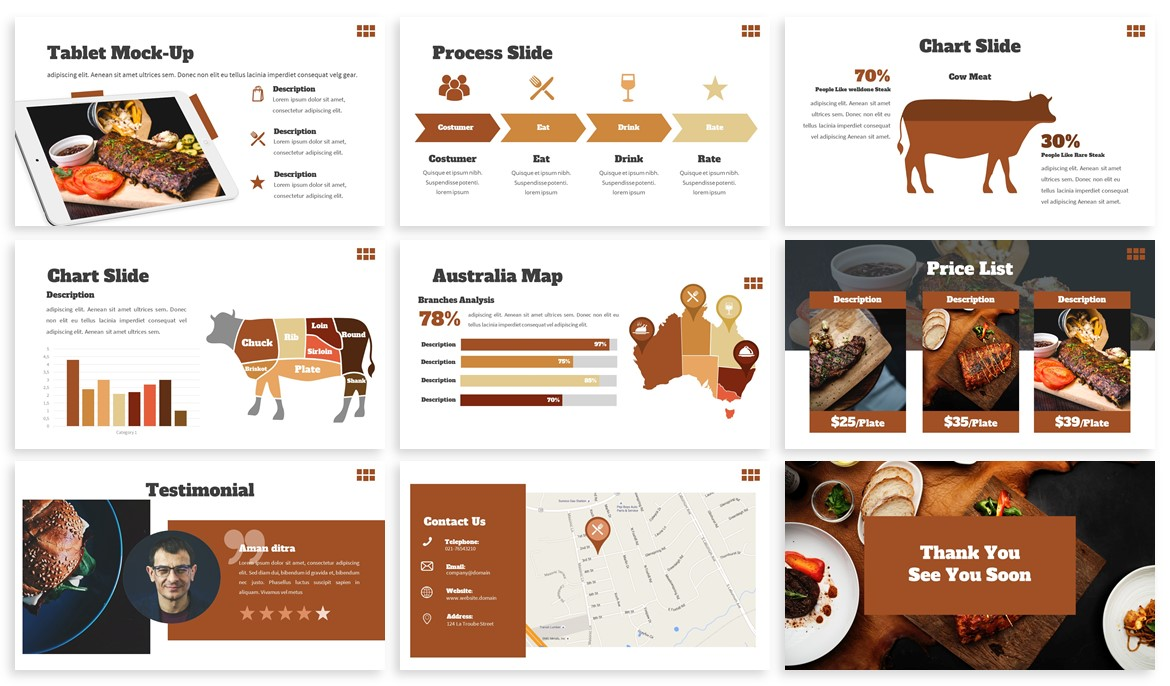 Welldone - Food Powerpoint Template example image 4