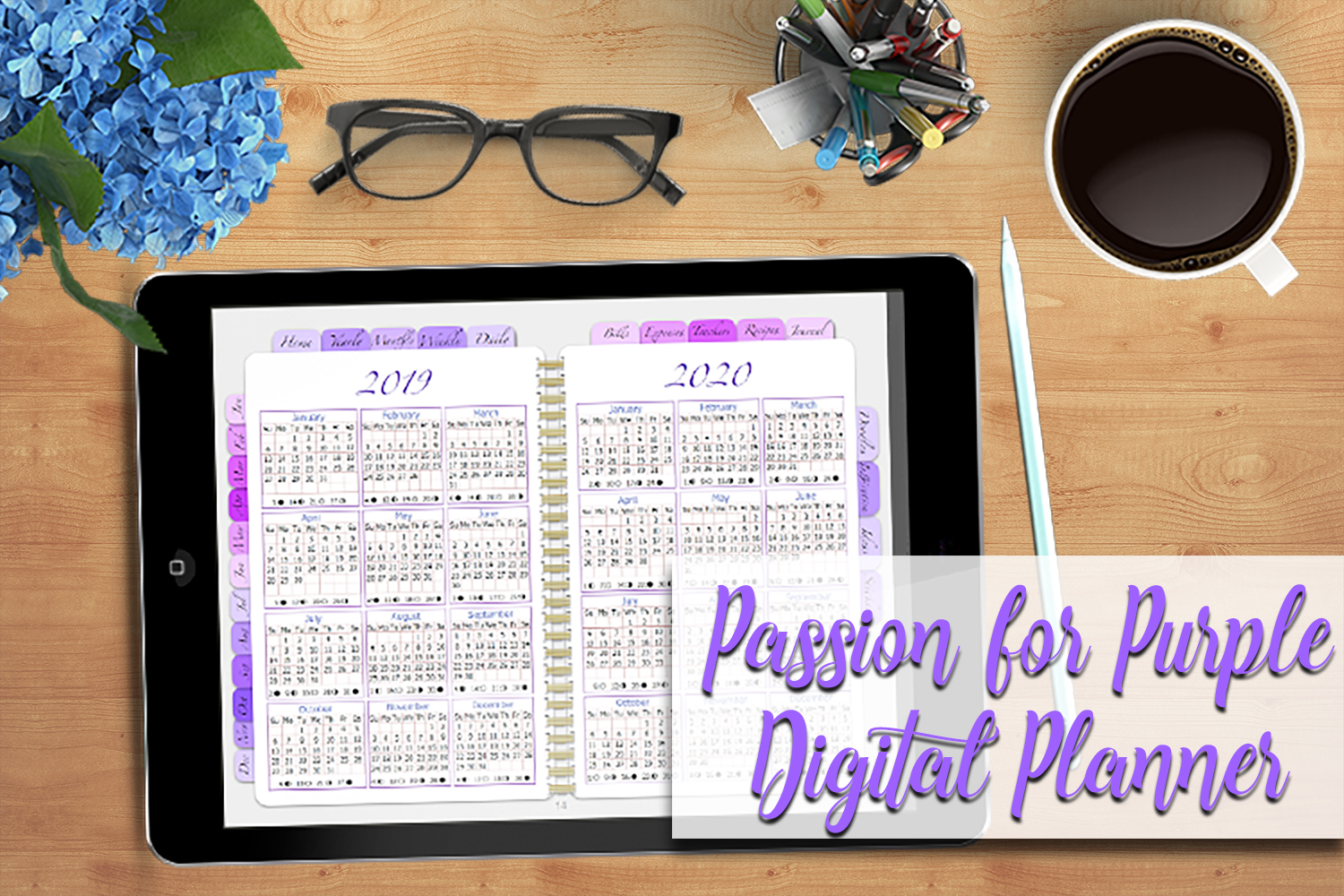 Digital Planner A Passion For Purple example image 1