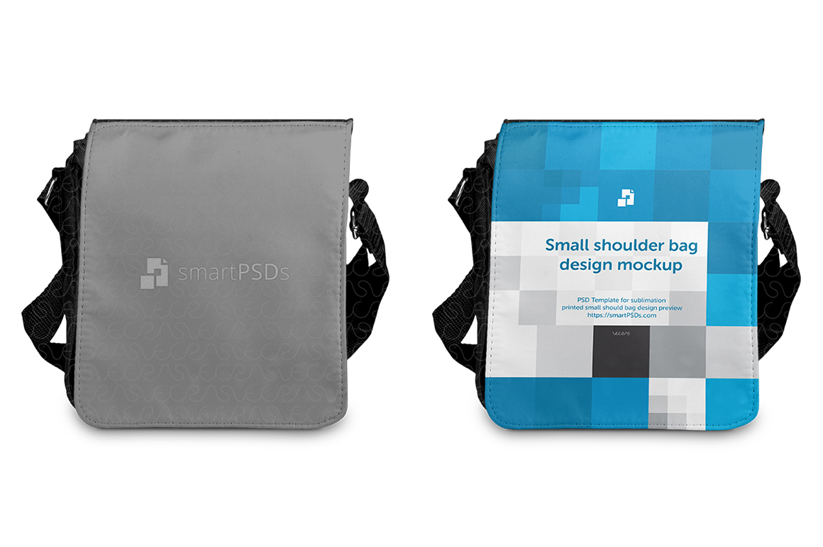 Shoulder Bag Small Mockup for Sublimation Preview Design - 3 Views example image 2