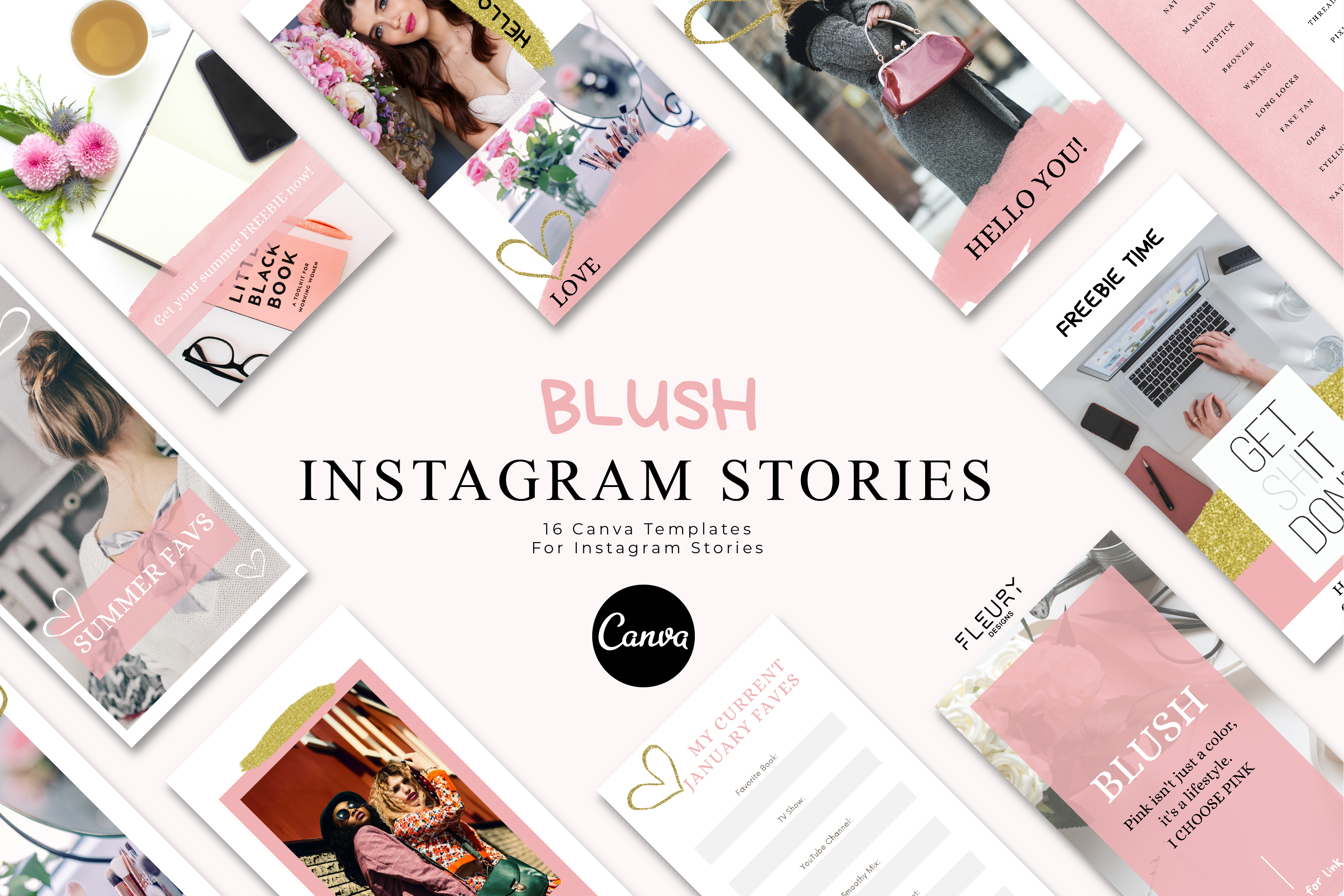 Instagram Story Canva Template - Blush example image 1