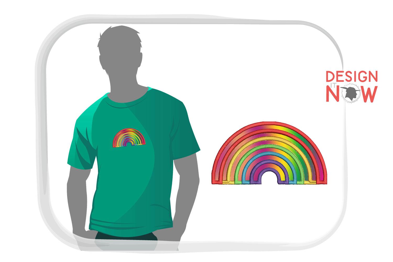 Rainbow Applique Design, Rainbow Embroidery, Pride example image 5