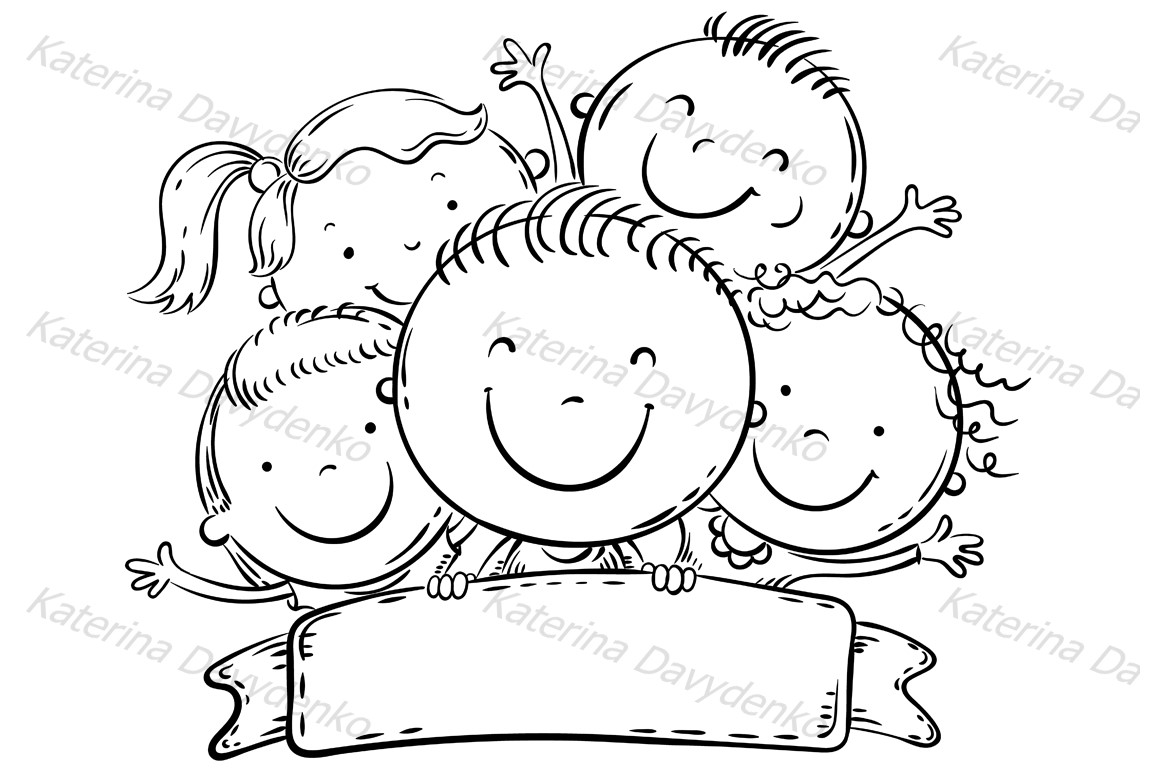 Happy kids with a copy space example image 2