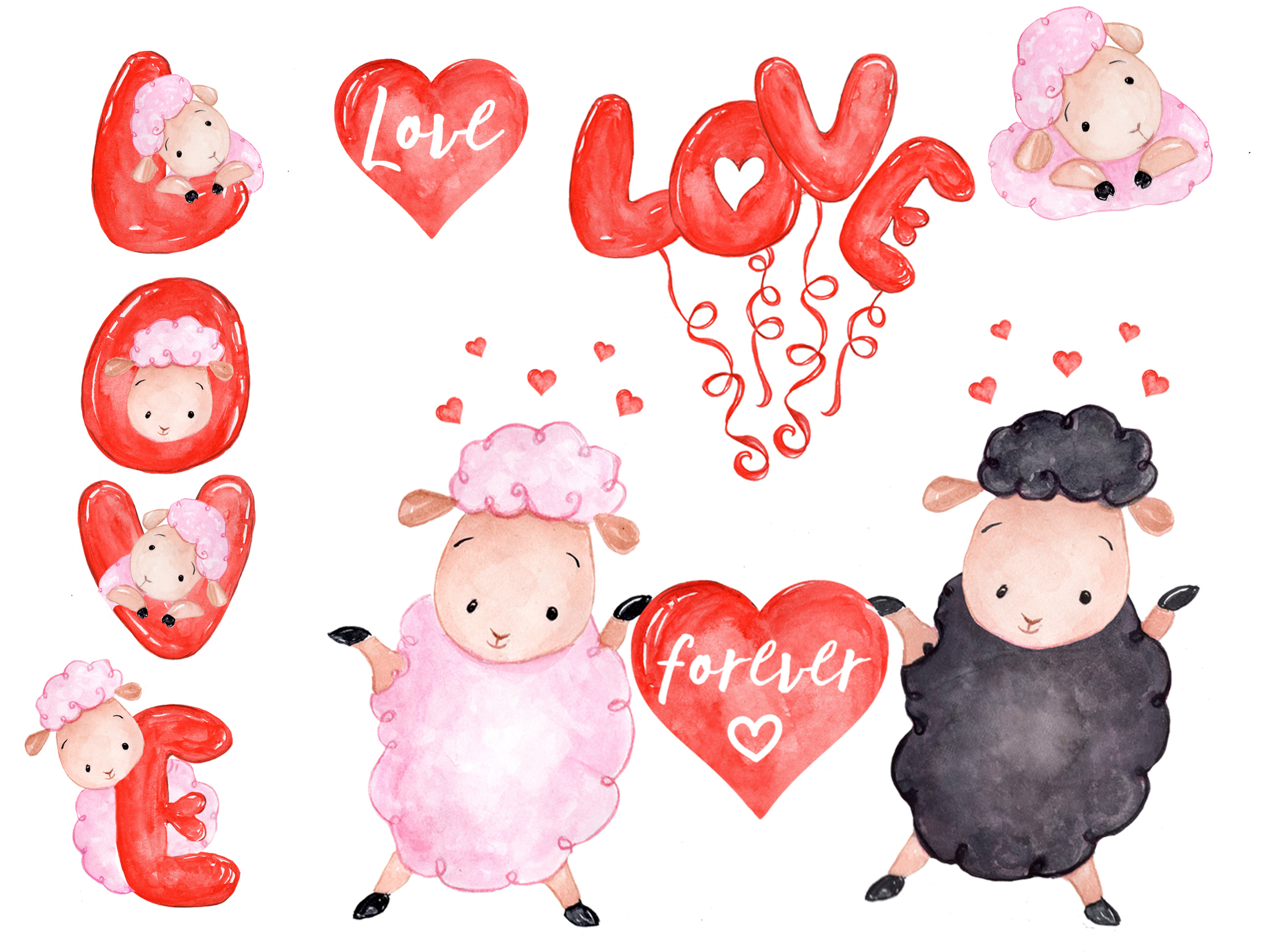 Love clipart Cute Sheep clipart (51304) | Illustrations ...