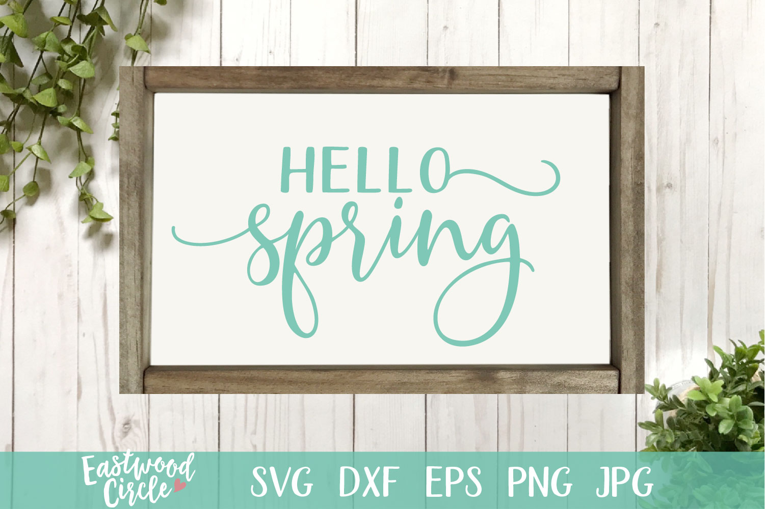 Hello Spring - A Spring SVG Cut File example image 1