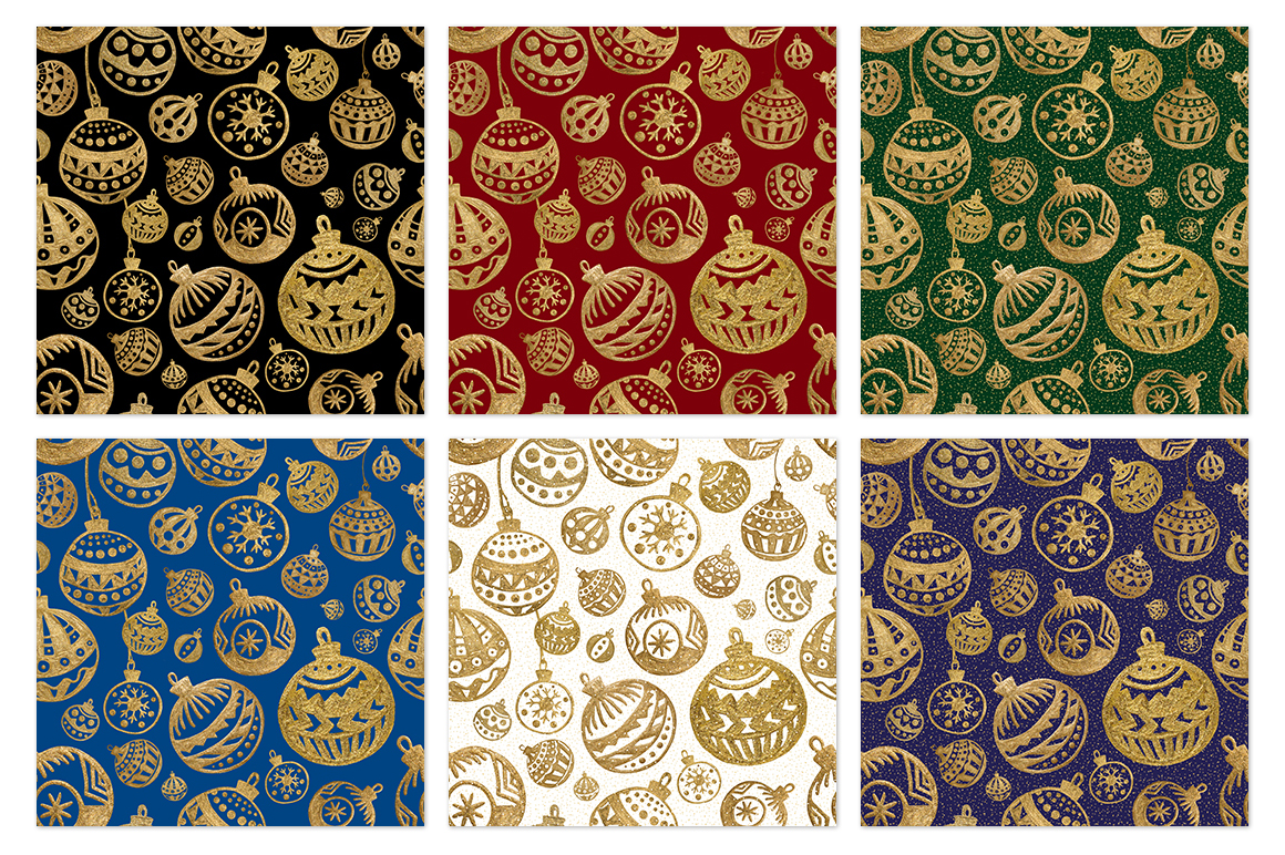 GOLD Christmas balls example image 2