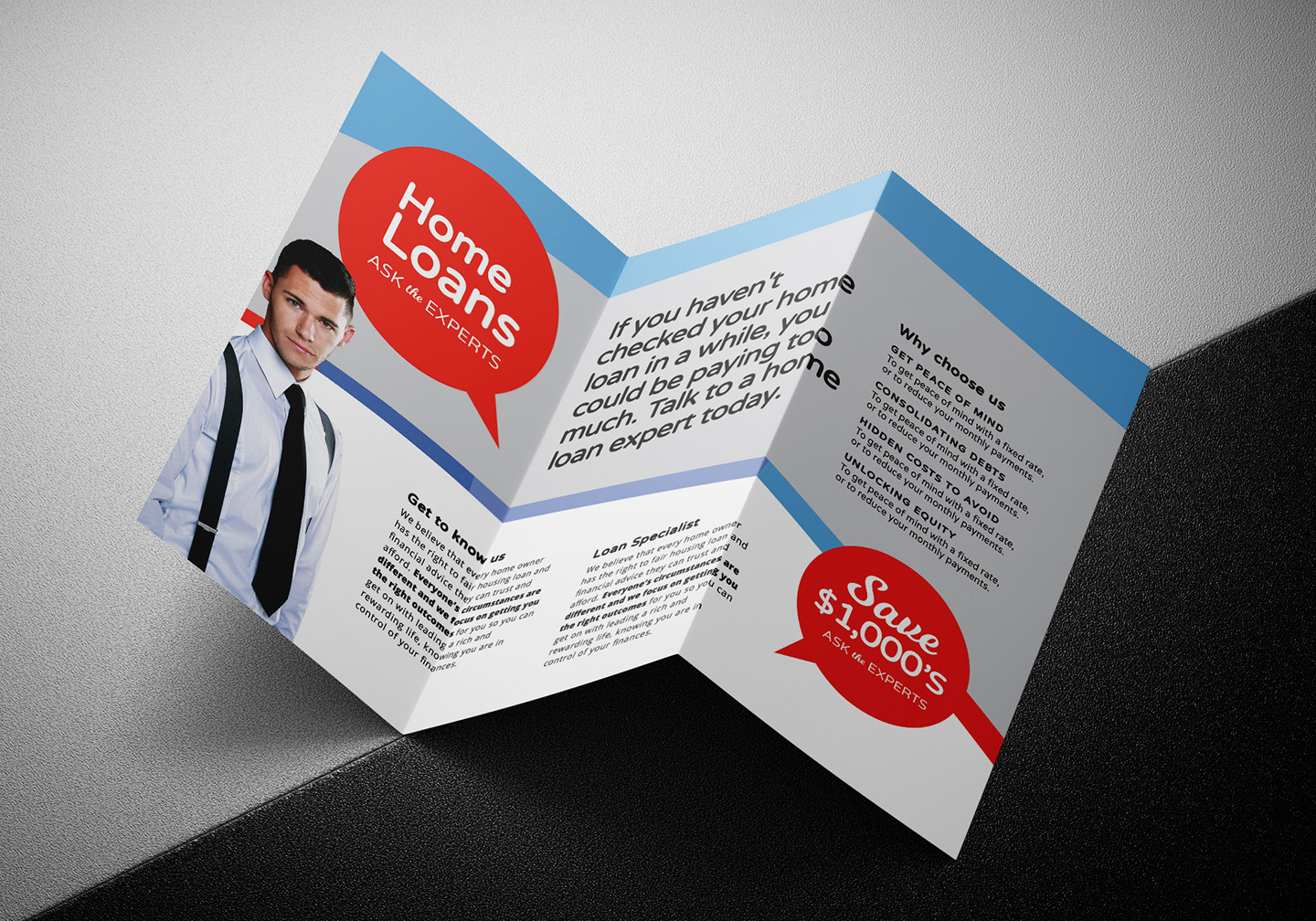 Modern Corporate Tri-Fold Brochure Template example image 5